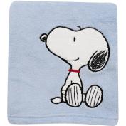 Bedtime Originals by Lambs & Ivy - Hip Hop Snoopy Crib Blanket, Blue