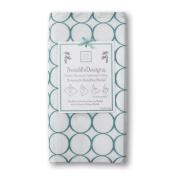 SwaddleDesigns Jewel Tone Mod Circle Marquisettle Swaddling Blanket, Turquoise