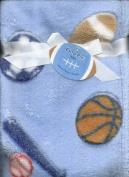 Sports Plush Baby Boys Blanket Velboa Fleece Baseball Football Basketball Soccer By Cutie Pie