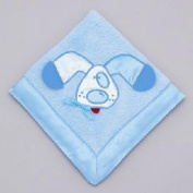 Mullins Square Kids / Teether Blanket, Blue Puppy