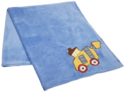 CoCo & Company Road Work Appliqued Sherpa Blanket