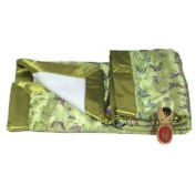 I Frogee Brocade Baby Blankets in Olive Green Butterfly Print