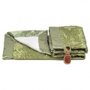 I Frogee Brocade Baby Blankets in Olive Green Fortune Flower Print
