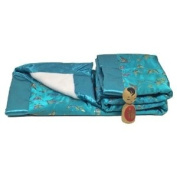 I Frogee Brocade Baby Blankets in Sky Blue Butterfly Print