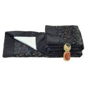 I Frogee Brocade Baby Blankets in Black Chilli Flower Print