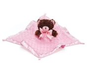 Pink Velboa Security Blanket with Teddy Bear Adorable Blanket for Baby Nursery or Toddler