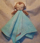 Turquoise Monkey Security Blanket Buddy