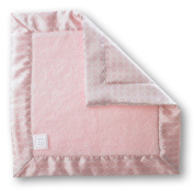 SwaddleDesigns Baby Lovie Security Blanket - Pastel Pink Fuzzy with Pastel Pink Mini Mod Satin