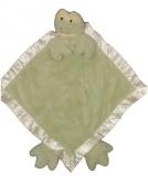Ellis Baby Plush Blankie -Super Soft Baby Security Blanket 38.1cm x38.1cm Green Frog Lovie Banky Blankie Toy