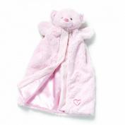 Nat & Jules Pink Bear Puppet Blanket