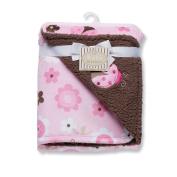 Baby Starters Ladybug Print Reversible Blanket, Pink