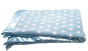 Pickles Bubbles Polka Dot Baby Blanket, Blue