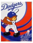 MLB Dodgers Raschel Blanket 101.6cm x 127cm - Baby Blanket