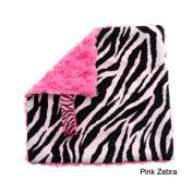BB Emerald Pink Zebra Soft Pacifier Baby Blanket
