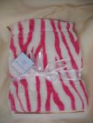 Hot Pink and White Zebra Stripe Super Soft Girls Baby Blanket Nursery Decor Shower Gift