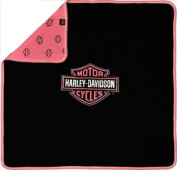 Harley-Davidson Black and Pink Receiving Blanket One Size