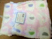 Cutie Pie White Pink Elephant Baby Blanket