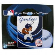 MLB Baby Throw Blanket - NY Yankees Royal Plush Raschel Throw