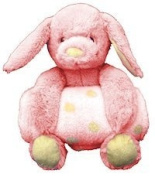 Animal and Blanket Toy and Blanket Pink Bunny