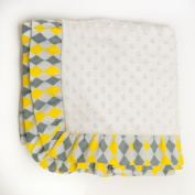 Pam Grace Creations Blanket, Argyle Giraffe