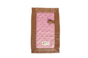Babee Covee Budee Blanket, Strawberry Heart with Mocha Dot