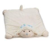 Adorable Plush Blue Lamb Nap Mat Blanket Fuzzy White Cute