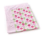 Designer Fleece Baby Blanket by Babylicious - Groovy Pink Large Dots