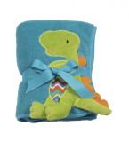 Maison Chic Blue Plush Dinosaur Blanket