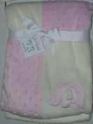 Kyle & Deena Patchwork Blanket, Elephant Pink/White 76.2cm X 76.2cm