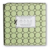 SwaddleDesigns Ultimate Receiving Blanket - Lime with Brown Mod Circles
