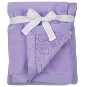 Soft Luxe Lilac Infant Baby Blanket