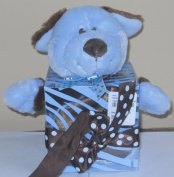 Baby Essentials Blue Puppy Snuggle Toy Plush Security Blanket