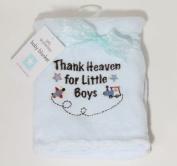 Little Beginnings Blue Thank Heaven for Little Boys Plush Baby Blanket