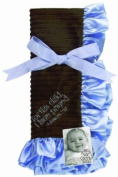 Sue Berk Designs Plush Soft Blanket with the Scripture, Blue For This Child, I Have Prayed
