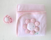 Dressed to Drool Pink Cuddle Blanket and Rattle