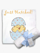 Light of Mine Designs Just Hatched Blue Receiving/Swaddling Blanket