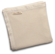 Organic Baby Blanket- Most Popular Premium Receiving Blanket with Cotton Sateen Binding - MADE IN THE USA - GOTS Certified Organic Cotton.