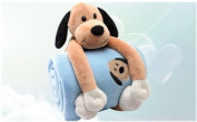 Blue Doggie Arf! Plush Blanket for Toddlers