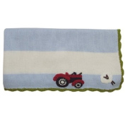 Powell Craft Hand Knitted Farm Yard Pram Blanket Baby Blanket