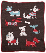 Green 3 Throw Blanket, Dog