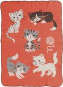 Green 3 Throw Blanket, Kitty