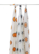 aden + anais Swaddle Blanket, 3 Pack mela 9201 Soft rayon fabric made from bamboo fibre
