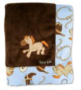 Hot Seller Cowboy Baby Receiving Blanket