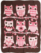 Green 3 Throw Blanket, Owl