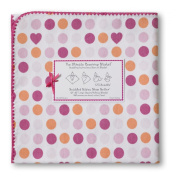 SwaddleDesigns Ultimate Receiving Blanket - Dots and Hearts