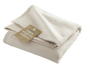 Hippychick Organic Cotton Fleece Pram Blanket 100x75 cm - Natural