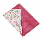 Maison Chic Girl Frog Chunky Cord Blanket with Jersey Lining, Pink