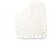 Bloomin' Baby Rosette Blanket, White
