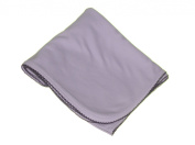 Blue Receiving Blanket with Navy Picot Trim By Cute As Buttons