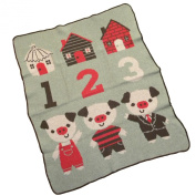 Three Pigs Junior Throw Blanket by green 3